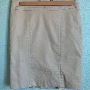 LOFT classic casual khaki canvas skirt size 4